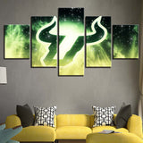 5 Panel South Florida Bulls Décor Canvas Wall Art HD Print.