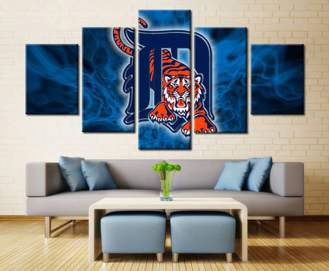5 Panels NFL Sport Gridiron Abstract Painting Modern Decor Canvas Wall Art HD Print
