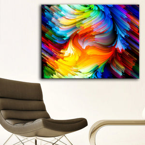 Colored Lines Modern Decor Canvas Wall Art HD Print