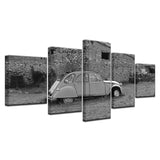 5 Panel Framed Classic Car Retro Nostalgicr Canvas Painting Art Wall Home Decor HD Printed