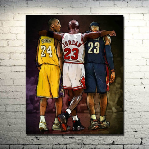 1 Piece Basketball Player Home Modern Canvas Wall Art