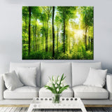 Canvas HD Print Painting Wall Art Home Decor 1 Piece/Pcs Lush Forest Tree Nature Landscape Poster Living Room Pictures Framework