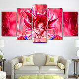 Modular Canvas Prints Pictures Wall Art Frame 5 Pieces Dragon Ball Painting Room Anime Cartoon Goku Abstract Poster Home Decor