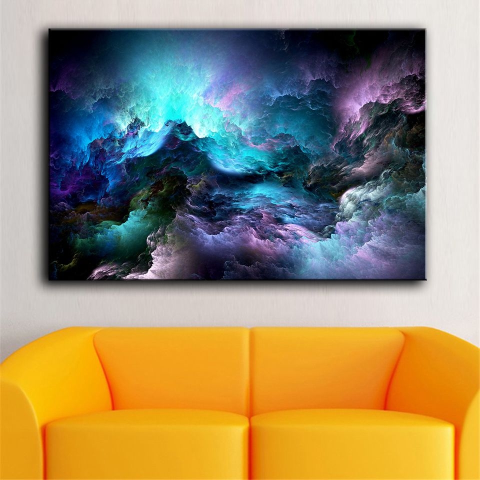 1 Piece Abstract Psychedelic Space Nebula Wall Art
