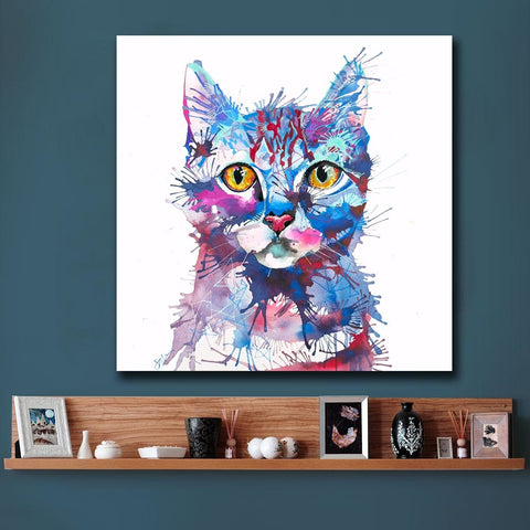 1 Piece Abstract Cat Modern Decor Canvas Wall Art HD Print