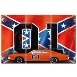 "3 Panel Framed ""Dukes of Hazzard"" Modern Décor Canvas Wall Art HD Print"