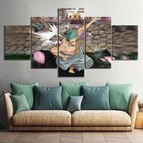 Modular Canvas Pictures Home Decor 5 Pieces One Piece Painting Prints Anime Cartoon Characters Poster Living Room Wall Art Frame