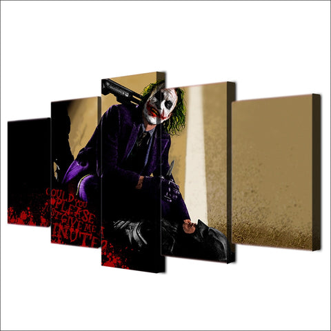 5 Panel Movie The Joker Modern Décor Wall Art Canvas HD Print