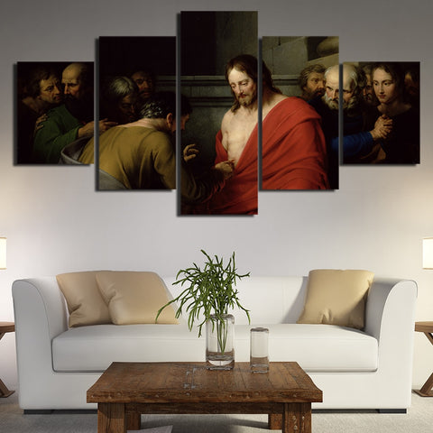 5 Panel Jesus Decoration Home Modern Decor Canvas Wall Art HD Print
