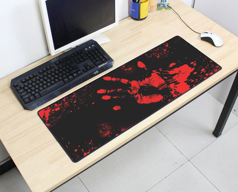 Large Bloody Hand Mouse Pad 800x300X3MM Best PC Gaming Mouse Pad HD Print