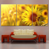 Modular Canvas Home Decor Pictures Wall Art Framework 3 Pieces Sunshine Sunflower Flowers Paintings Living Room HD Prints Poster