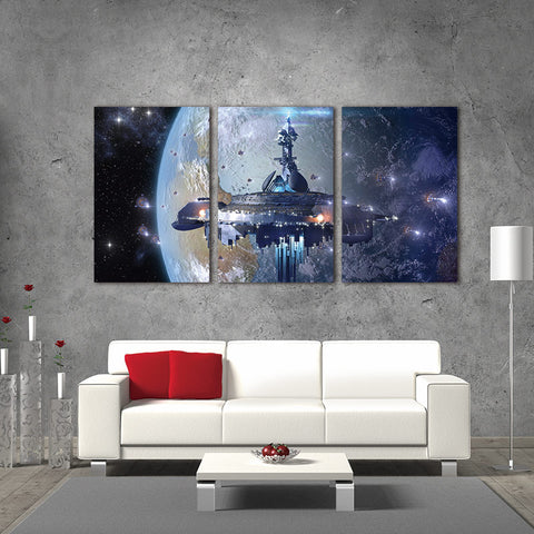 3 Piece Star Wars Modern Canvas Wall Art HD Print