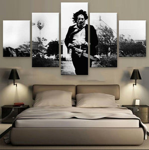 5 Panel The Texas Chainsaw Massacre Modern Décor Wall Art Canvas HD Print