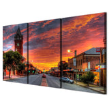 3 Piece Sunset Broken Hill Modern Decor Canvas Wall Art HD Print