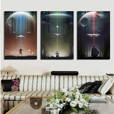 3 Panel Star Wars Movie Posters Modern Décor Wall Art Canvas HD Print