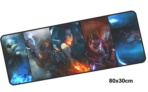 Mass Effect Five Characters Large Mouse Pad 800x300mm Best PC Gaming HD Print