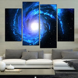 4 Panel Galaxy Modern Decor Canvas Wall Art HD Print