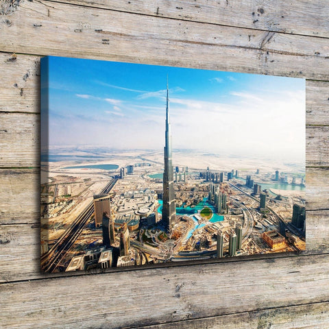 Dubai Burj Khalifa Tower Modern Canvas Wall Art Print