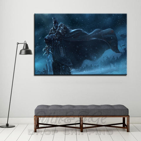 World of Warcraft WoW Wrath of the Lich King Modern Décor Wall Canvas HD Print
