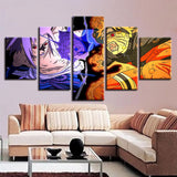 5 Pieces Animation Paintings Living Room Uzumaki Naruto Uchiha Sasuke Pictures Wall Art Frame