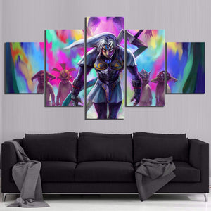 5 Panel Legend of Zelda Majoras Mask Game Modern Décor Wall Art Canvas HD Print