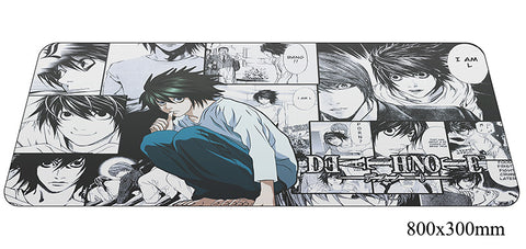 Death Note Comic Strip Large Mouse Pad 800x300X2mm Best PC Gaming Pad HD Print