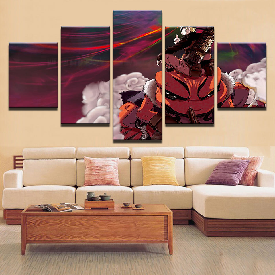 Canvas Prints Poster Home Decor 5 Pieces Animation Paintings Living Room Uzumaki Naruto Uchiha Sasuke Pictures Wall Art Frame