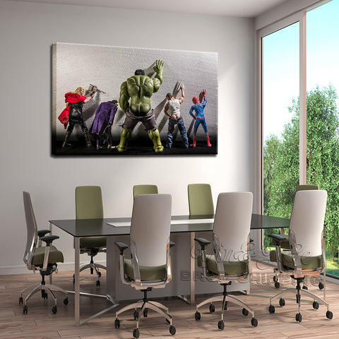 The Hulk- Joker- Spiderman-Thor-Wolverine Avenger Super Heroes Modern Decor Canvas Wall Art HD Print
