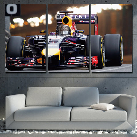 3 Pc Sports Car Racing Modern Canvas Wall Art HD Print