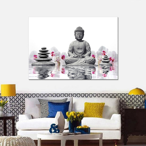 Zen Buddha Modern Decor Canvas Wall Art HD Print