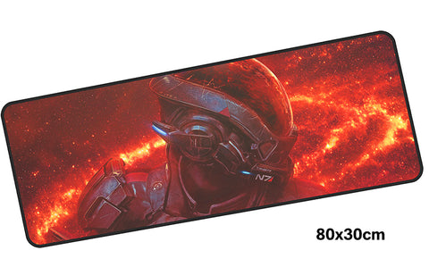 Mass Effect Helmet Large Mouse Pad 800x300mm Best PC Gaming Mouse Pad HD Print