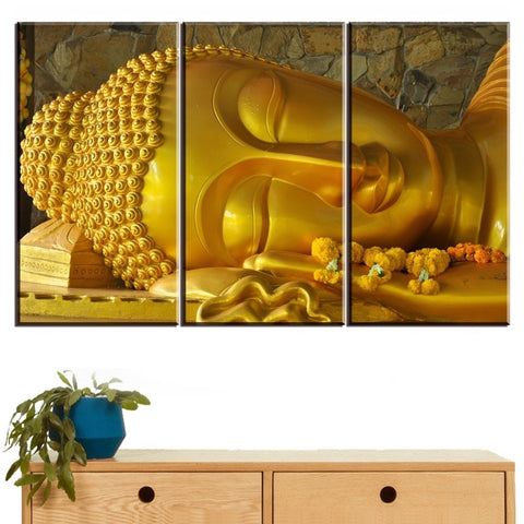 5 Pieces Gold Buddha Modern Decor Canvas Wall Art HD Print