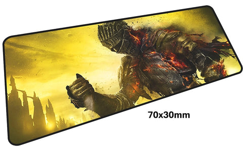 Dark Souls Flaming Knight Large Mouse Pad 700x300mm Best PC Gaming Pad HD Print