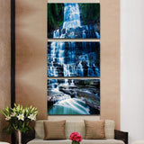 Modern Canvas HD Prints Painting Home Decor Living Room 3 Pieces Waterfall Landscape Wall Art Poster Framework Abstract Pictures