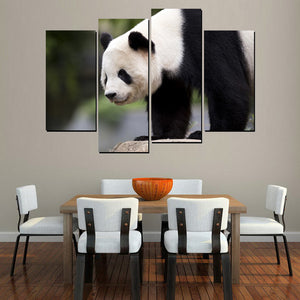 4 Panel Panda in the Wild Photo Modern Décor Wall Art Canvas HD Print