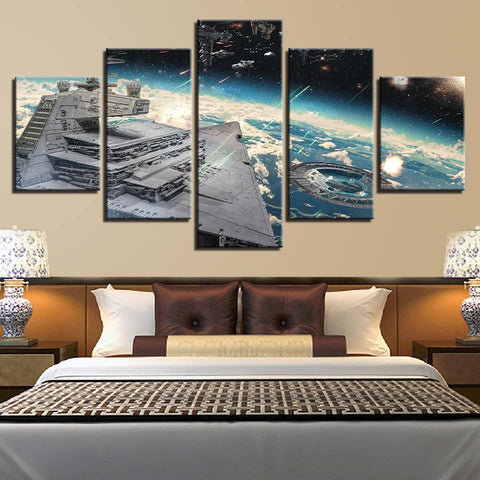 5 Panel Star Wars Rogue One Shield Gate Modern Decor Canvas Wall Art HD Print