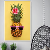 Nordic Balloon Pineapple Eyeglasses Modern Decor Canvas Wall Art HD Print