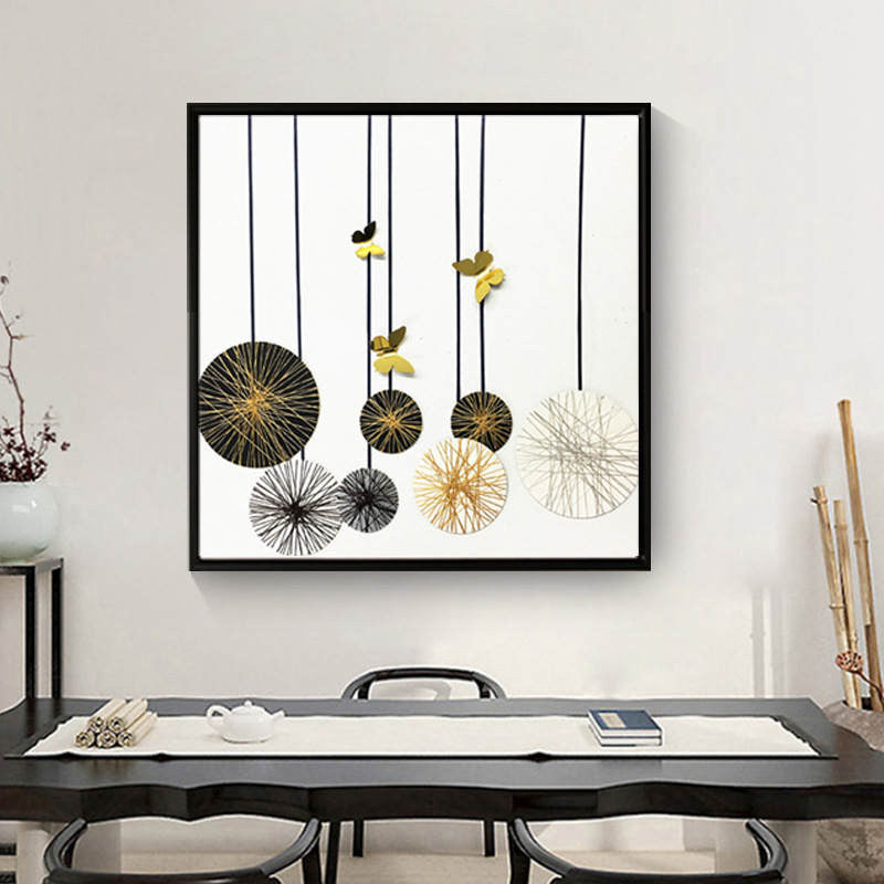 Nordic Style Abstract Geometric Fluffy Globes Modern Decor Canvas Wall Art HD Print