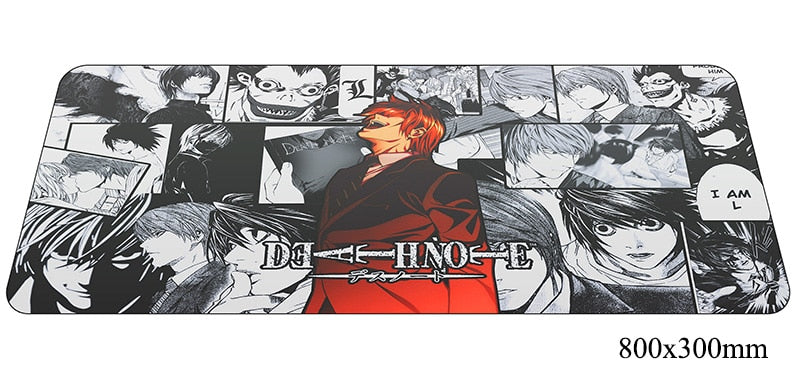 Death Note Red Character Large Mouse Pad 800x300X2mm Best PC Gaming Pad HD Print