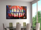 1 Pieces Abstract Teeth Modern Decor Canvas Wall Art HD Print