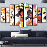 HD Printed Canvas Modular Pictures Frame Living Room Home Decor 5 Pieces Modern Naruto Collage Paintings Wall Art Anime Posters