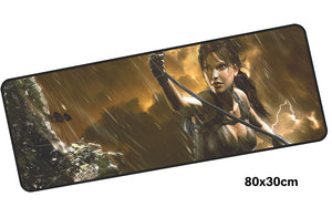 Tomb Raider Lara Rope Swing Large Mouse Pad 800x300mm Best PC Gaming Pad HD Print