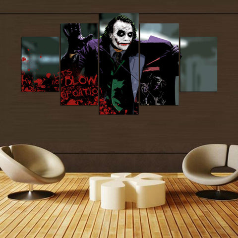 5 Panel Movie Joker Wall Decorative Painting Modern Décor Wall Art Canvas HD Print