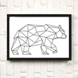 Nordic Style Abstract Line Animal Modern Kids Room Canvas Wall Art HD Print