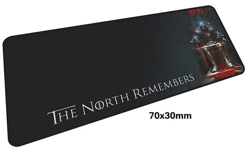 Game of Thrones The North Remembers Large Mouse Pad 700x300mm Best PC Gaming Pad HD Print