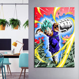 1 Piece Super Saiyan Blue Vegito Anime Modern Canvas Wall Art HD Print