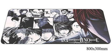 Death Note Style Large Mouse Pad 800x300X2mm Best PC Gaming Pad HD Print