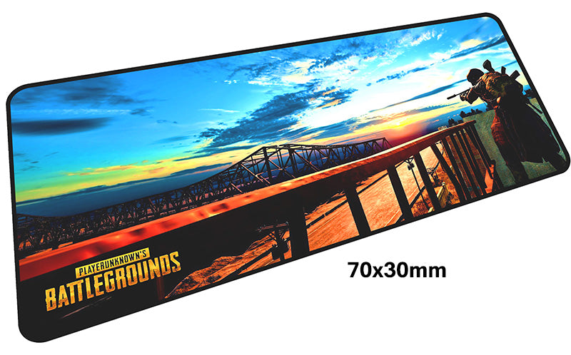 PUBG Bridge Landscape Large Mouse Pad 700x300mm Best PC Gaming Pad HD Print