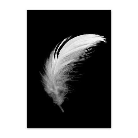 Nordic Style Girl Butterfly Feather Modern Canvas Wall Art HD Print