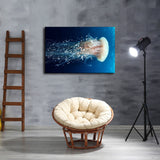 1 Pc Jellyfish Ocean Animals Rangiroa Canvas Art Print